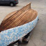 Marine Sandblasting Wooden Boat